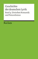 Sorg, Bernhard: Geschichte der deutschen Lyrik. Bd. 4: Zwischen Romantik und Naturalismus. Stuttgart: Reclam, 2012 (= Universal-Bibliothek; 18891).