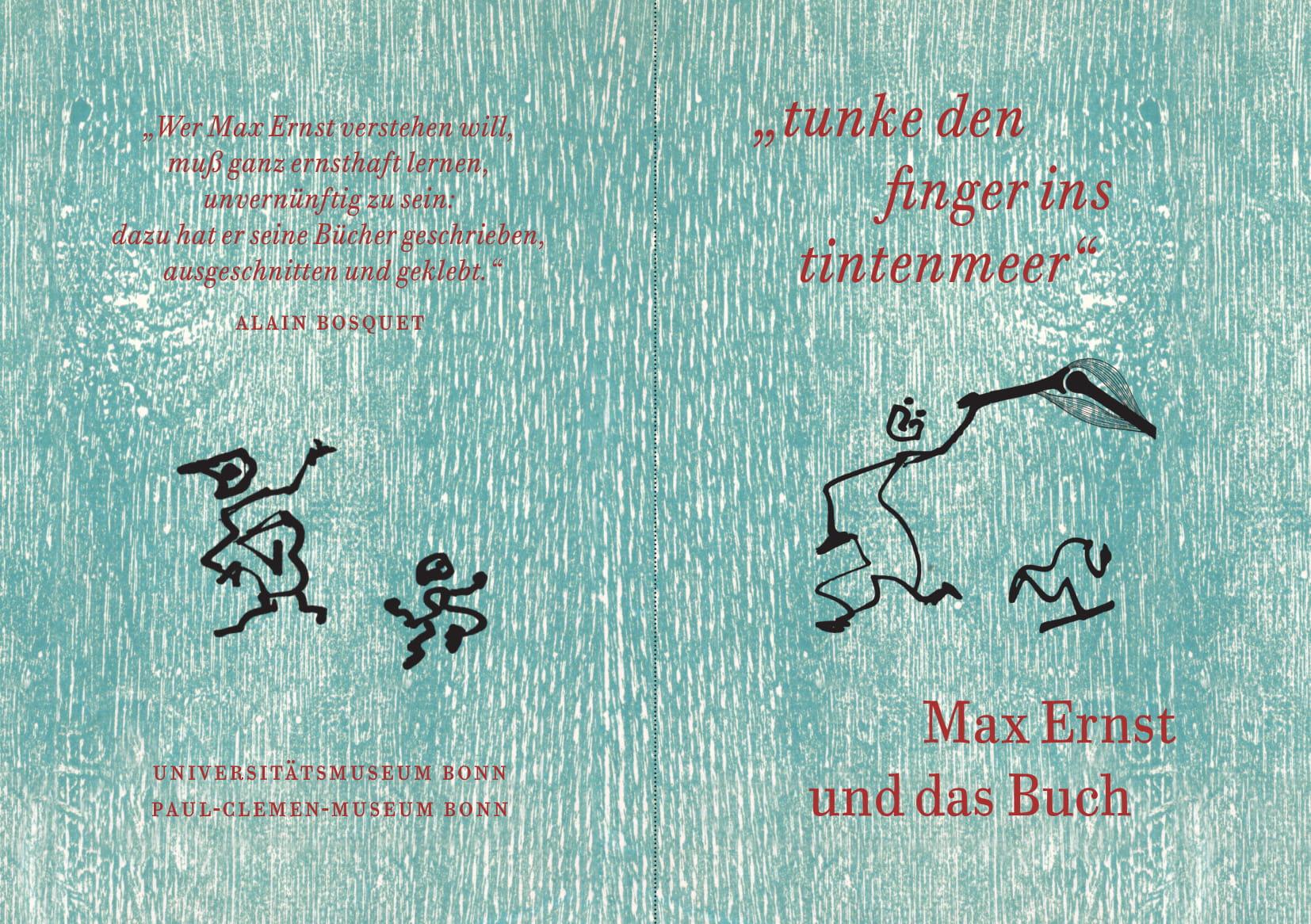 """Soeben erschienen: Max Ernst und das Buch - """"tunke den finger ins tintenmeer""""."""